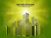 Vector cityscape — Stock Vector