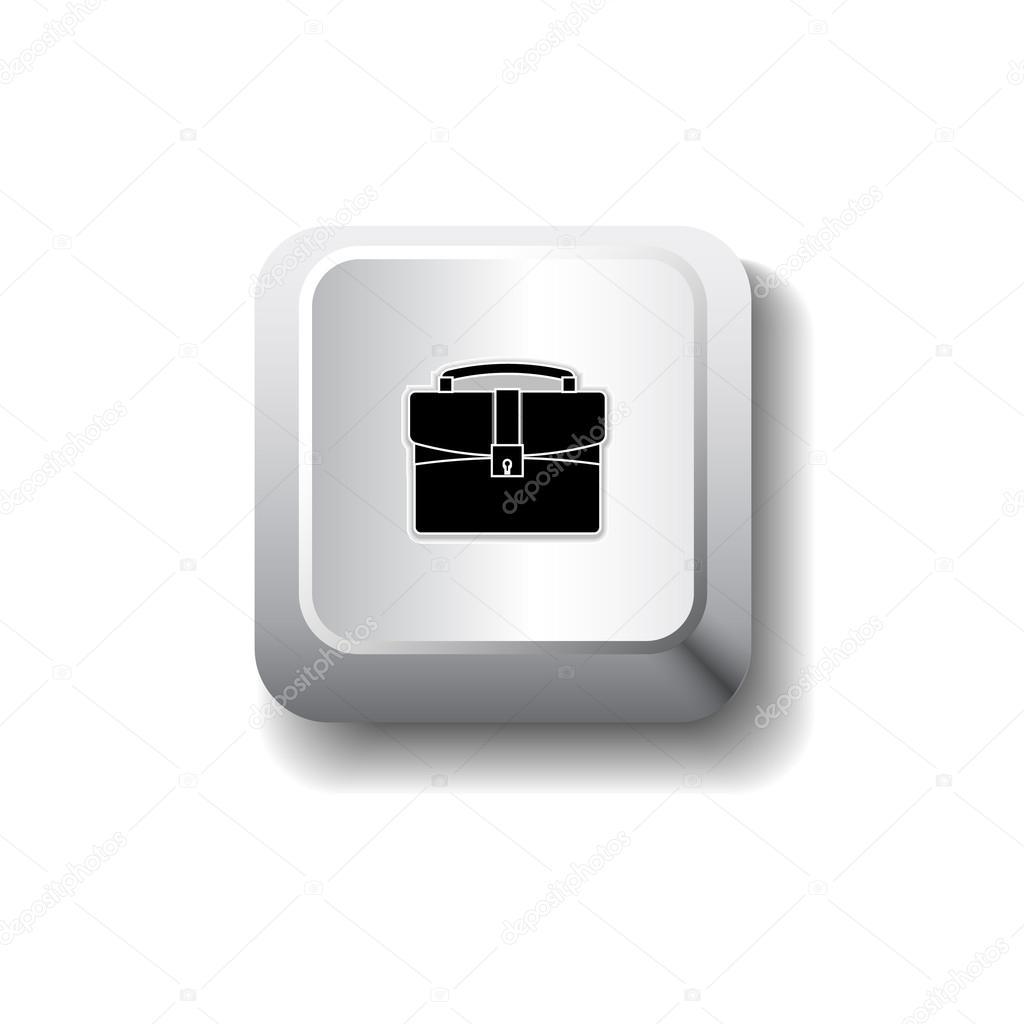 矢量公文包图标 - 图库插图