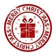 Vector Christmas rubber stamp — Stock Vector