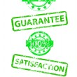 Stock Vector: Satisfaction guaranteed grunge vector stamp