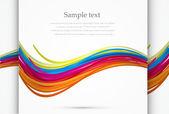 Vector rainbow wave background — Stock Vector