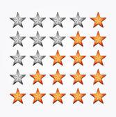 Shiiny vector stars — Stock Vector