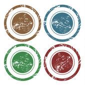 Vector blank grunge stamps — Stock Vector