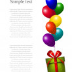 Vector hot air balloons background — Stock Vector