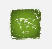 Groene grunge aard pictogrammen — Stockvector
