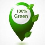 Green map pointer — Stock Vector