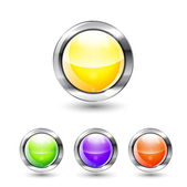Glossy vector buttons — Stock Vector