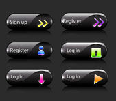 Vector register subscribe buttons — Stock Vector