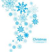 ベクトル クリスマス雪背景 — ストックベクタ