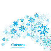 Vector Christmas snowflakes background — Stock Vector
