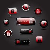 Vector gift buttons — Stock Vector