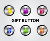 Vector gift buttons — Stockvektor