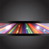 Rainbow rays background — Stock Vector