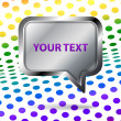 Royalty-Free Stock Vector Image: Vector speech bubble on colorful background