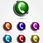 Colorful vector call button — Stock Vector #17405311