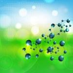 Vector molecules background — Stock Vector