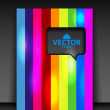 Vector rainbow brochure — Stock Vector