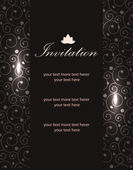 Vector luxury invitation templates — Vetor de Stock