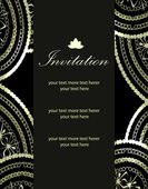 Vector luxury invitation templates — Vettoriale Stock