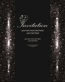 Vector luxury invitation templates — Stock Vector
