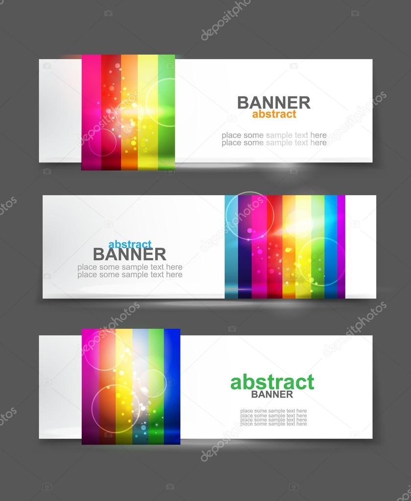 Vector rainbow colorful banner  Stock Vector #17607839