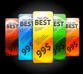 Vektor bästa erbjuda blanka banner — Stockvektor