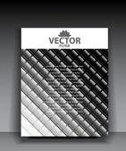 Vector wave mosaics background — Stock Vector