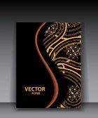 Vektor paisley broschyr — Stockvektor