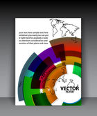 Vector earth brochure template — Stock Vector
