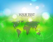 Vector nature green background — Stock Vector
