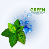 Vector green nature molecules backgrouns — Stock Vector