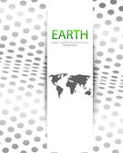 Vector world map background — Stock Vector