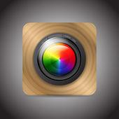Vector camera application — Stock Vector