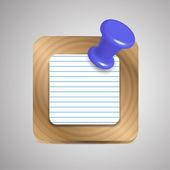 Vector agenda notebook application icon — Stock Vector