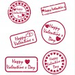Grunge Valentine&#039;s day stamps - Vektorgrafik