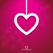 Vector paper heart valentine background — Stock Vector