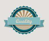 Label de qualité rétro — Vecteur