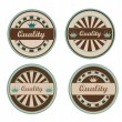 Quality retro labels - Stock Vector