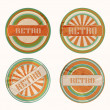 Vector funky retro labels - Stock Vector