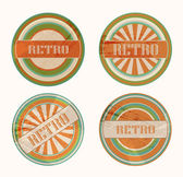 Vector funky retro labels — Stock Vector