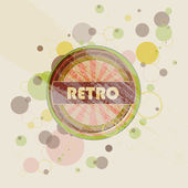 Abstract creative retro labels background — Stock Vector
