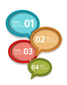 Vector colorful paper speech bubble infographic — Stock Vector