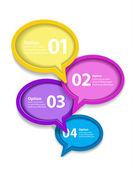 Renkli konuşma balonu Infographic vektör — Stok Vektör