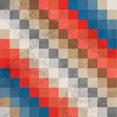 Vector retro mosaic background — Stock Vector