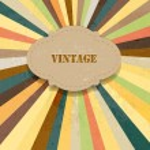 Vector sun rays retro background — Stock Vector #25099005