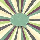 Grunge colorful vector speech bubble — Vector de stock