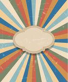 Grunge retro colorful sunburst background — Stock Vector