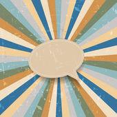 Grunge retro sunburst background — Stock Vector