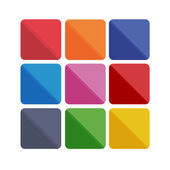 Colorful abstract flat icon backgrounds — Stockvector