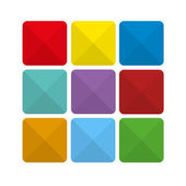 Colorful abstract flat icon backgrounds — Vecteur